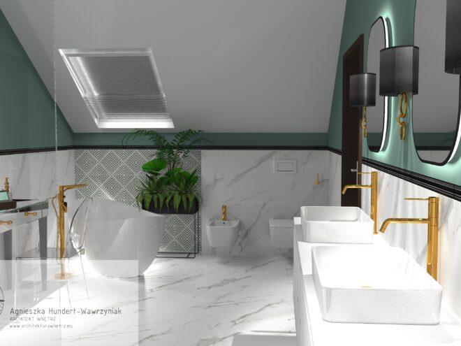 Łazienka inspirowana stylem art deco
